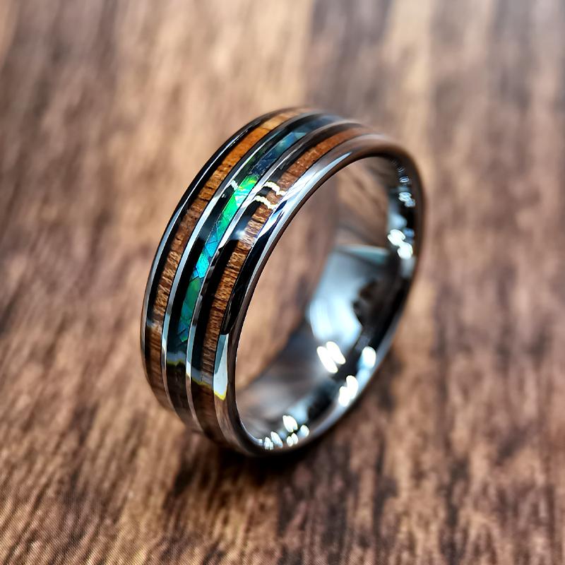 wood with tungsten ringswood with tungsten rings